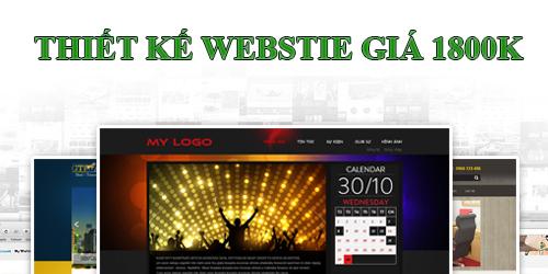 thiết kế web 1800k, thiet ke web 1800k