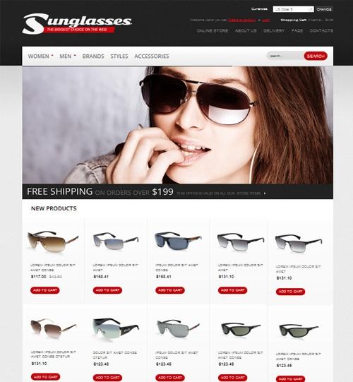 Kết quả hình ảnh cho thiết thiết kế website bán kính mắt