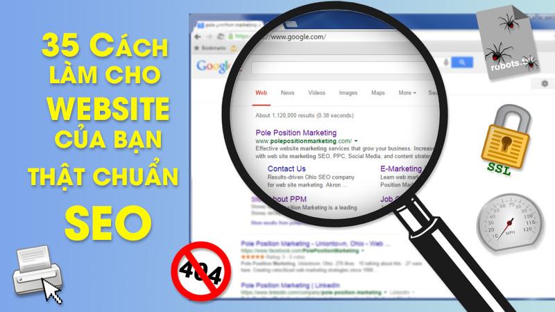 35 cách làm cho website của bạn thật chuẩn SEO trước khi bạn thực hiện SEO