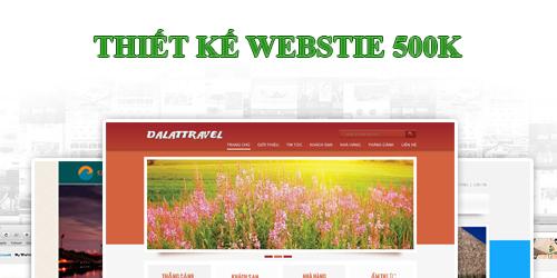 thiết kế web 500k, thiet ke web 500k