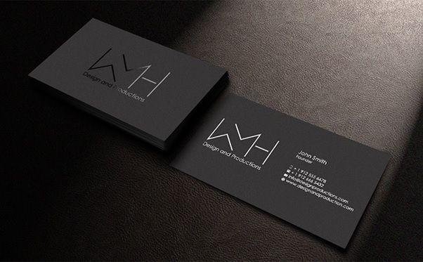Card visit được thiết kế bằng Ai