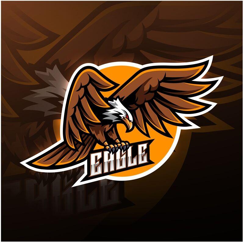 Font thiết kế logo đại bàng mạnh mẽ trong game