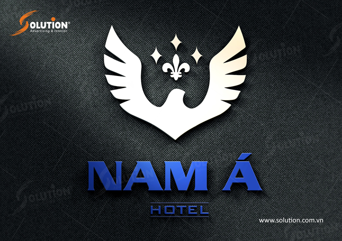 logo khách sạn Nam Á lấy biểu tượng Đại bàng cách điệu