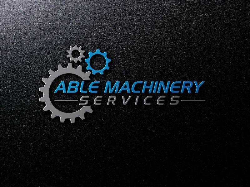 Kiểu chữ viết nghiêng trong logo ngành cơ khí