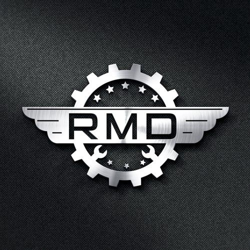 Mẫu logo cơ khí đẹp đơn màu