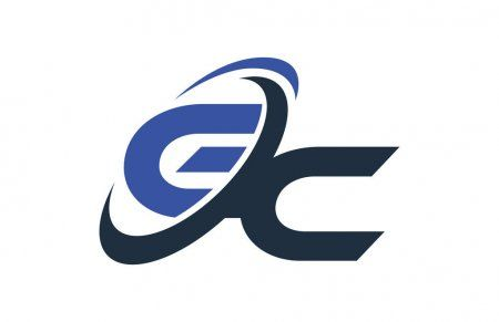 Mẫu logo cơ khí thiết kế chữ lồng nhau cách điệu
