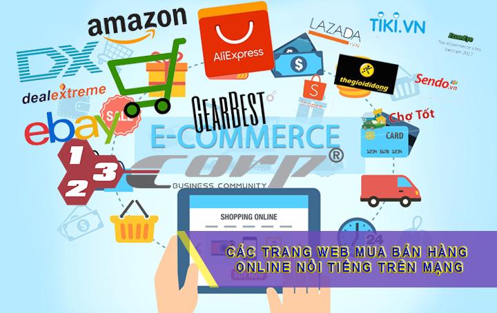 Các trang web mua bán hàng online nổi tiếng trên mạng