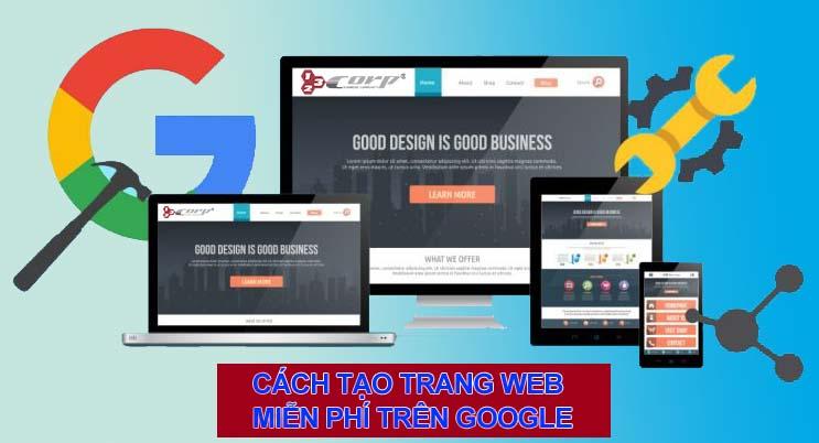 Cách tạo một trang web bán hàng miễn phí trên Google