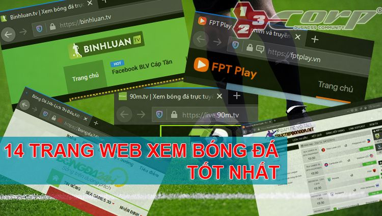 Danh sách 14 trang web xem bóng đá trực tuyến tốt nhất