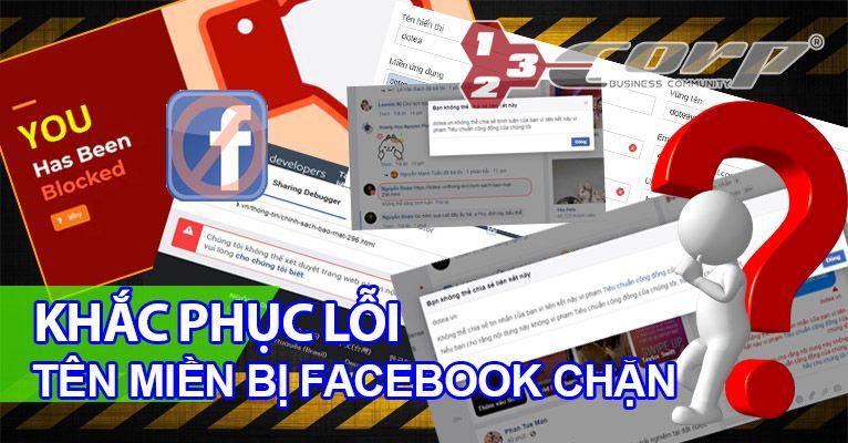 Khắc phục lỗi tên miền bị facebook chặn