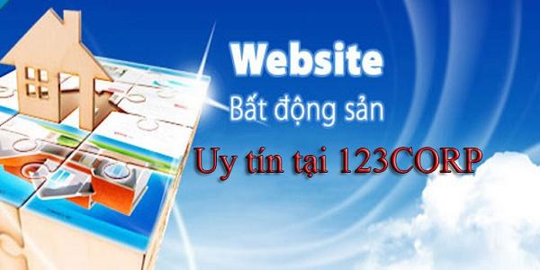 Lập trang web bất động sản giá rẻ tại 123CORP