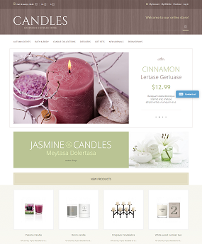 Mẫu web giao diện cao cấp Candles
