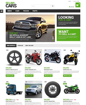 Mẫu web giao diện cao cấp Selling Cars