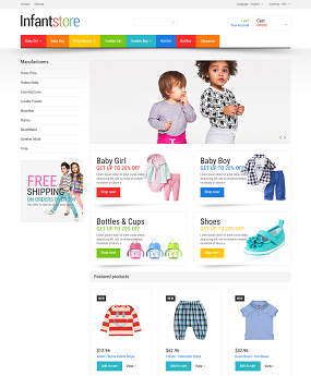 Mẫu web giao diện mobile Infant Store