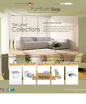 Mẫu website nội thất The Furniture Shop