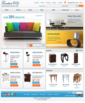 Mẫu website nội thất Furniture Shop