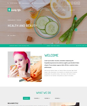 Mẫu website Beauty Life
