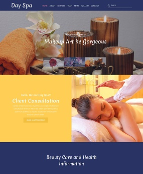 Mẫu website Day Spa