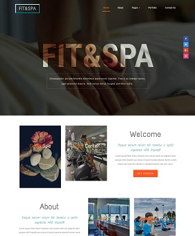 Mẫu website Fit Spa