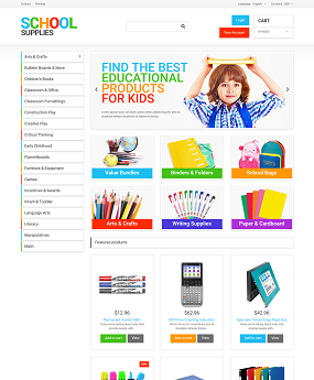 Mẫu website giáo dục School Supplies