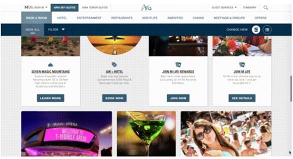 Mẫu website khách sạn Aria Hotel
