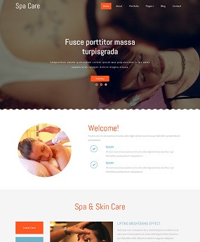 Mẫu website Spa Care
