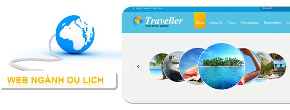 thiết kế website ngành du lịch