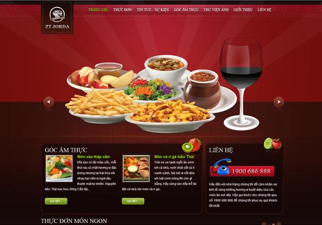Kết quả hình ảnh cho website nhà hàng khách sạn