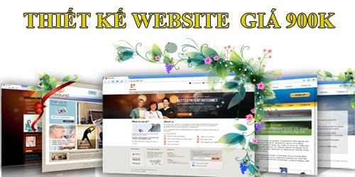 thiết kế website giá 900k