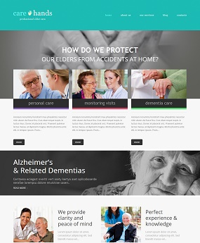 Website dược phẩm Care Hands