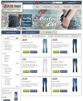 Website Thời Trang Jeans Store