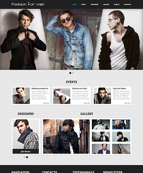 Website Thời Trang Fashion for Men